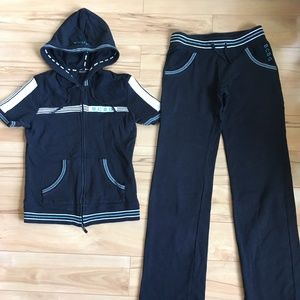 BCBGMaxazria Jogging Suit Tracksuit Top Hoodie